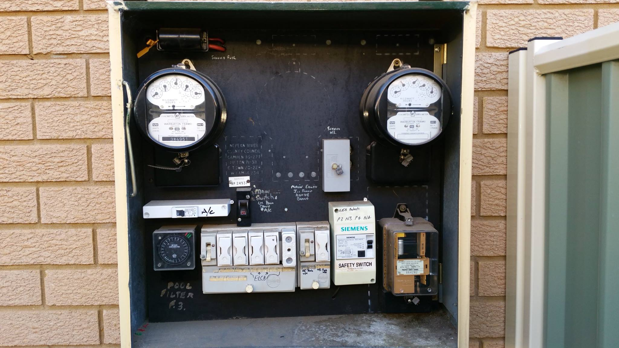 Meter board upgrades, replace old type ceramic fuses and holders ...